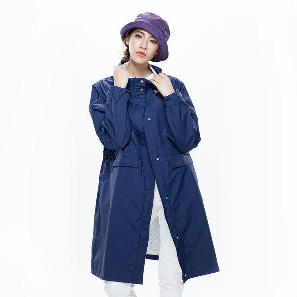 【MORR】Rainster女款抽繩風衣外套【午夜藍】登山/防水/透濕/透氣/通勤/機車
