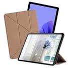 CITY 城市風 for 三星 Samsung Galaxy Tab A7 2020 10.4吋 經典磁吸可三折Y折立架皮套-金 / 黑
