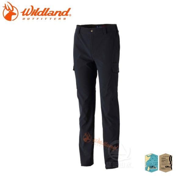 【Wildland 荒野 男 RE彈性粗礦多口袋長褲《深灰》】0A32398-93/彈性/口袋長褲/休閒褲