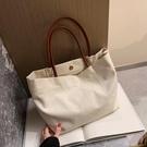 購物包 帆布包女學生韓版大容量包包女單肩包手提包2021媽咪包購物袋【快速出貨八折鉅惠】