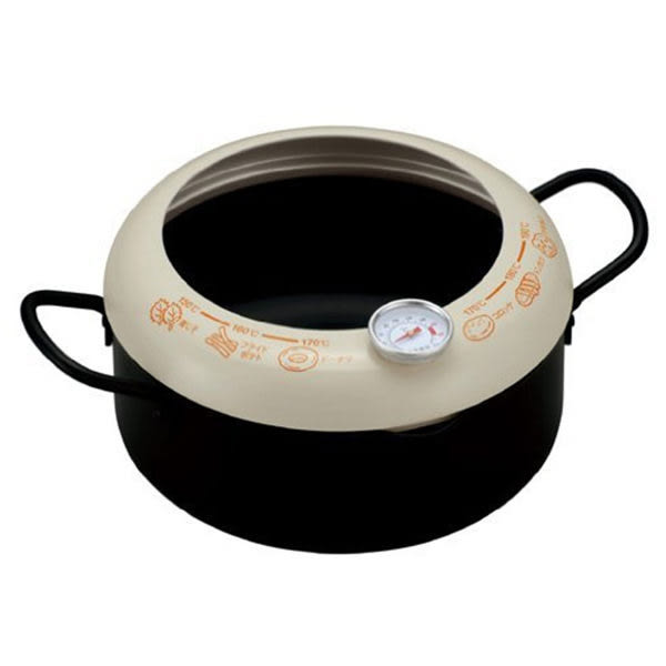 【KAI貝印】DZ-5847 雙耳油炸鍋20cm 附油溫計 日本製