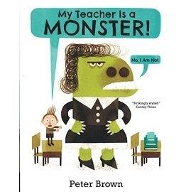 【麥克書店】MY TEACHER IS MONSTER /英文繪本《中譯: 我的老師是怪獸》