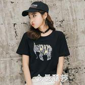 t恤女短袖寬鬆學生半袖上衣韓版印花卡通動漫圖案潮 金曼麗莎