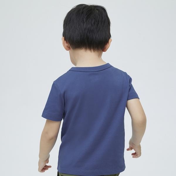 Gap男幼童 布萊納系列 Logo印花純棉短袖T恤 701447-藍色