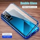 OPPO Realme V5 X50 X50 Pro X2 XT K5 K7 金屬磁吸套 鏡頭保護 金屬邊框 前後玻璃殼