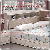 【水晶晶家具/傢俱首選】ZX1011-3瑪奇朵5 尺白栓木皮面床頭箱~~床底另購