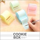 捲筒 便利貼 自由貼 便條紙 記事 辦公室 用品 文具 滾筒式 方便  (隨機出貨) *餅乾盒子*