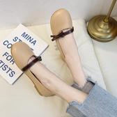 單鞋女2020春款平底仙女風軟底豆豆鞋學生淺口網紅軟皮百搭乖乖鞋