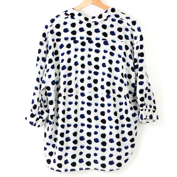 【MASTINA】兩件式文青風圓點襯衫- 白  冬末好康