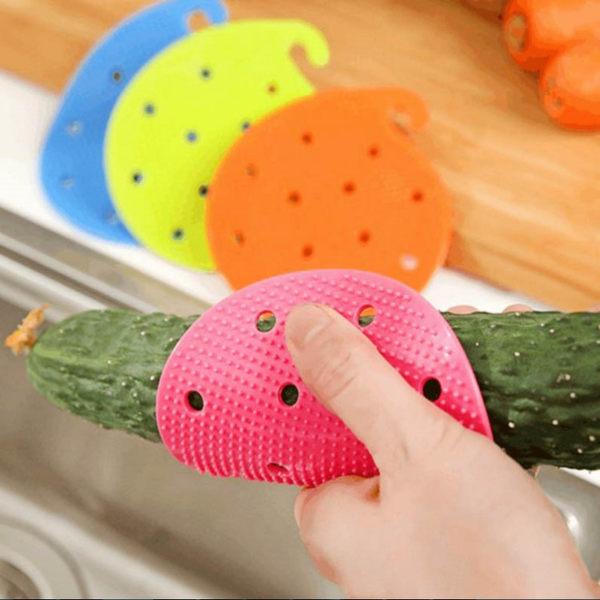 廚房用品【KFS045】多功能蔬果清潔刷 蔬果刷 蔬果清潔刷 隔熱防燙手-123ok