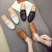 包頭女夏新款韓版百搭外穿粗跟時尚穆勒鞋 LR3106【野之旅】