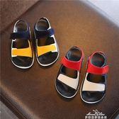 2019夏季新款韓版男童魔術貼防滑軟底涼鞋1-2-3歲女童寶寶學步鞋『夢娜麗莎精品館』