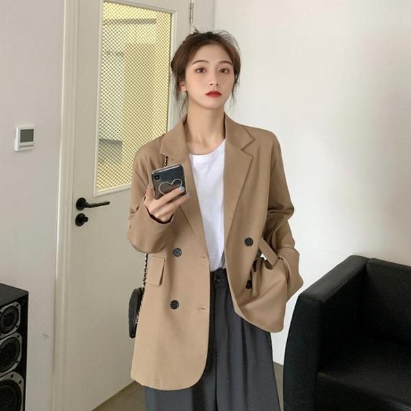 西裝外套 西裝外套女韓版寬鬆2020新款春秋季網紅設計感小個子職業西服上衣 源治良品