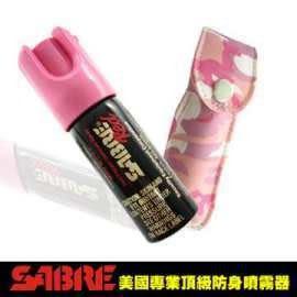速霸超級商城㊣SABRE沙豹防身噴劑-粉紅迷彩皮套(現貨到)◎防狼噴霧器