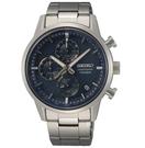 SEIKO 精工 鈦金屬 計時腕錶 8T67-00N0B / SSB387P1