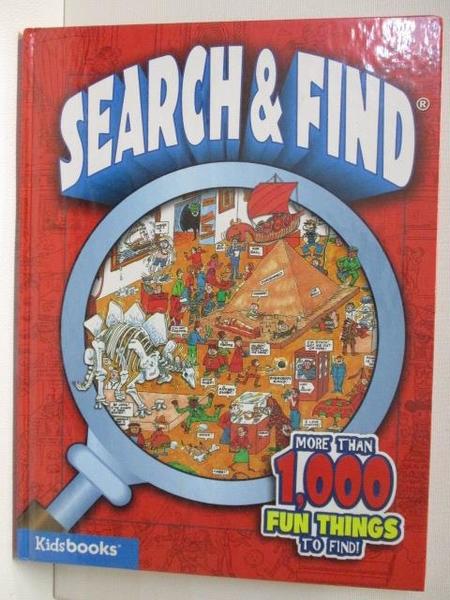 【書寶二手書T5/少年童書_JQC】SEARCH&FIND_More Than 1000 Fun Things to Find