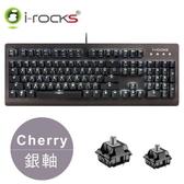【i-Rocks】IRK65MS 單色背光機械鍵盤 - 銀軸