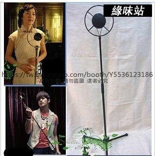 老式麥克風 復古夜上海圓盤話筒 影樓主題攝影道具 仿古裝飾擺件【緣味站】YW-3268