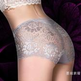 8折免運 3條裝洋裝透明蕾絲 無痕柔軟大尺碼春夏褲頭 中腰三角女士內褲
