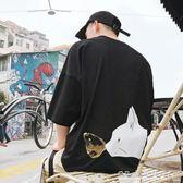 bf學生短袖男士t恤夏季寬鬆裝打底衫上衣服半潮流五分韓版圓領體5『CR水晶鞋坊』