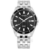 CITIZEN 星辰表 / BI5050-54E / 簡約商務 日期視窗 日本機芯 防水100米 不鏽鋼手錶 黑色 42mm