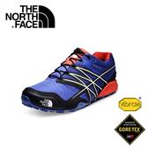 【The North Face 男款 GORE-TEX越野跑鞋 榮譽藍/橘】CVZ3/越野跑鞋/休閒鞋/GORE-TEX
