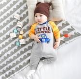 男嬰兒連體衣服秋冬季寶寶可愛哈衣爬爬服新生嬰兒外出服 新年特惠