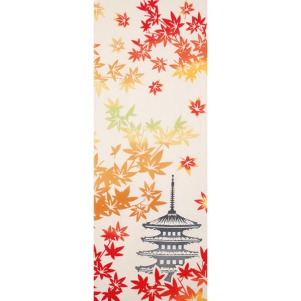 【日本製】【和布華】 日本製 注染拭手巾 楓葉與五重塔圖案(一組:3個) SD-5103-3 - 和布華