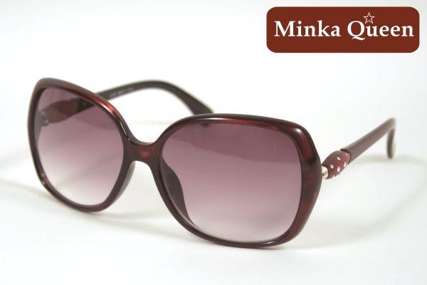Minka Queen 瑰色美麗酒紅框(抗UV400)時尚百搭太陽眼鏡