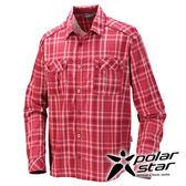 PolarStar 吸濕排汗抗UV長袖襯衫男『暗紅』戶外│休閒│登山│露營 │吸濕排汗│防曬衣 P16135