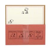 SNOOPY美式生活系列趣味漫畫信紙組(紅)★funbox★sun-star_UA54441