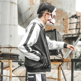 飛行外套日系秋季字母刺繡撞色棒球外套夾克男正韓青年嘻哈寬鬆男生短外套潮