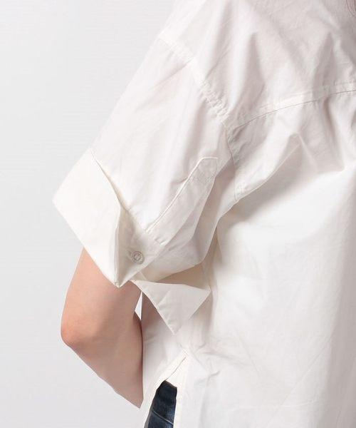 ❖ Hot item ❖ 袖反摺口袋襯衫上衣 - earth music&ecology