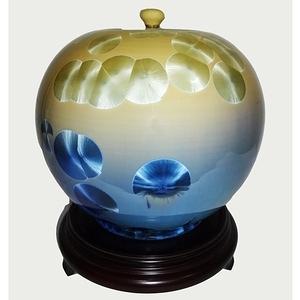 台灣首席大師彭文雄 結晶釉瓷器(10 inch聚寶盆 圓滿甕 聚寶罐)高25cm   直徑