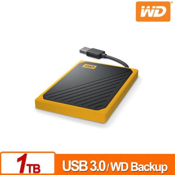 WD My Passport Go 1TB (黑/琥珀黃) USB 3.0 外接固態硬碟/SSD 內建傳輸線400MB/s