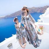 親子裝母女裝夏2018新款海邊度假兒童沙灘裙