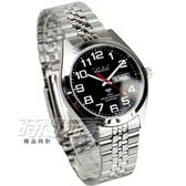 OMAX 時尚城市數字圓錶 不銹鋼錶帶 藍寶石水晶鏡面 防水手錶 日期+星期顯示 女錶 OM4004M黑字大