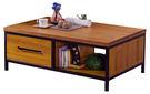 【南洋風休閒傢俱】茶几系列-卡爾四尺工業二抽大茶几 邊桌 角桌 沙發桌 咖啡桌 (JF236-1)