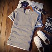 夏裝男士短袖T恤韓版圓領半袖卡通體恤夏天男裝半截袖潮流打底衫 魔方數碼館