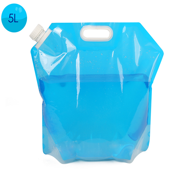 1入5L大容量水袋運動手提折疊水袋戶外 戶外露營野炊 旅行登山儲水袋 便攜水桶【SV6886】BO雜貨