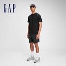 Gap男裝 基本款素色圓領短袖T恤 680985-黑色