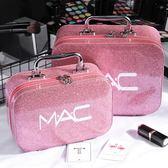 化妝包 化妝包小號便攜韓國簡約可愛網紅少女心大容量收納盒品化妝箱手提 伊蘿鞋包