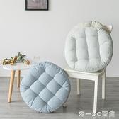 棉麻條紋坐墊加厚榻榻米屁股墊現代簡約餐椅墊地上懶人沙發蒲團墊