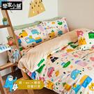 床包/單人-【Sweet home甜蜜的家】含1件枕套,喂wei聯名設計,SGS認證,戀家小舖台灣製-APS101