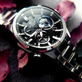 EDIFICE CASIO★贈皮錶帶 / EQB-600D-1A 卡西歐獨特3D立體地球智慧藍牙日期太陽能不鏽鋼手錶 黑色 44mm
