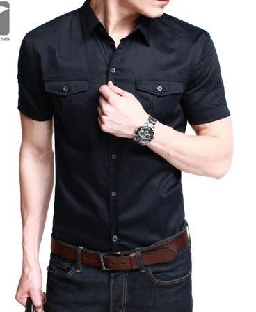 男式休閑襯衫