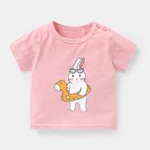 兒童短袖 兒童衣服女童短袖T恤夏裝兒童1兒童0女3歲打底衫6個月9上衣ZY134【七夕節鉅惠】