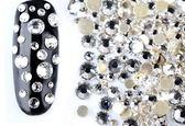 美甲AB幻彩水晶奧鑽大小平底混裝鑽指甲飾品(約800顆)《NailsMall美甲美睫批發》