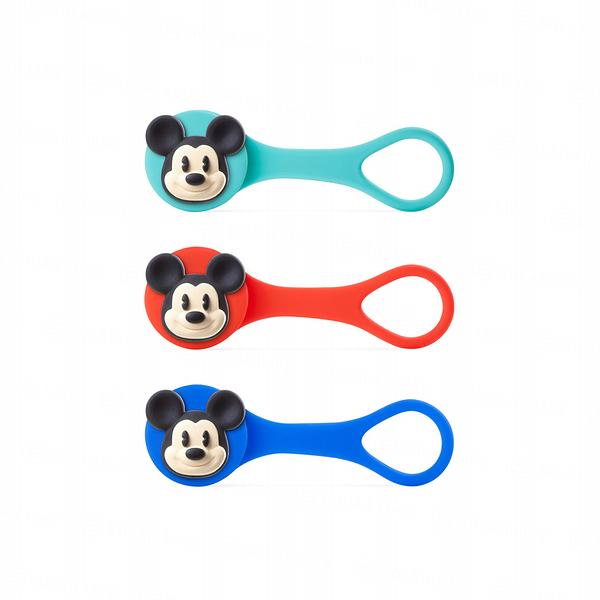 Mickey Q Cord Ties線材收納束帶逗扣Q束繩-米奇