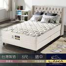 【LAKA】涼感紗+蠶絲 三線蜂巢式獨立筒床墊(Free night系列)雙人5尺